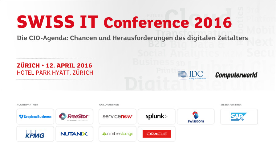 SWISS IT Conference 2016 - Switzerland