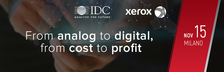 From analog to digital, from cost to profit - Xerox - Italy