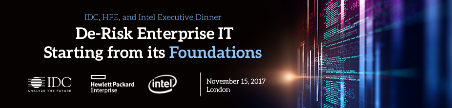 IDC, HPE and Intel Executive Security Dinner