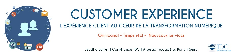 Conférence IDC : Customer Exprerience