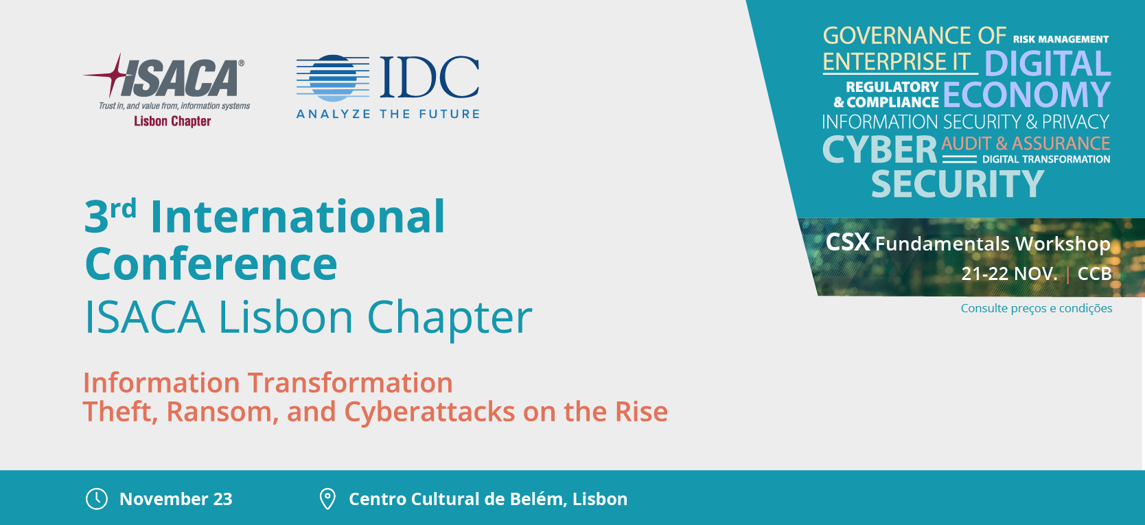 IDC & ISACA Lisbon Chapter International Conference