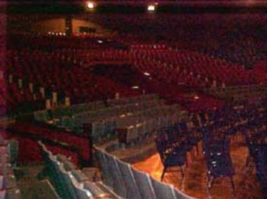 Auditorium and arena floor from side view
