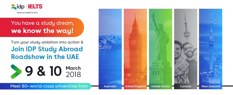 Join IDP Study Abroad Roadshow in the UAE