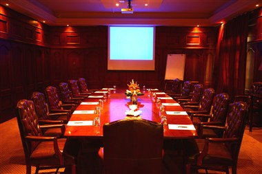 16 Seater Wood Panelled Executive Boardroom