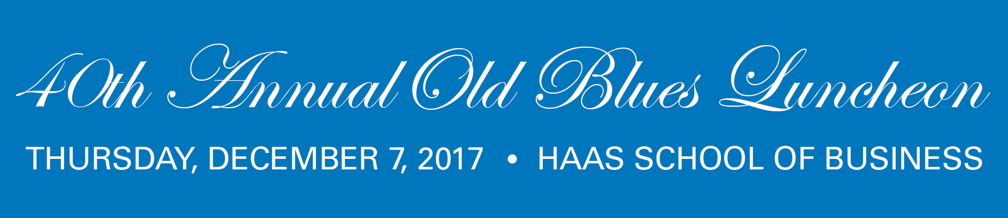 40th Annual Old Blues Luncheon