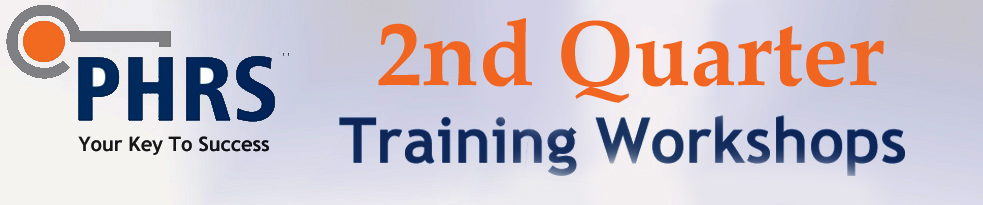 Upcoming PHRS Training Offerings for June 2017