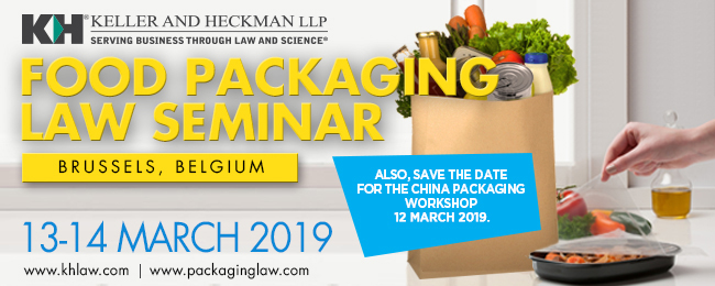 2019 Brussels Food Packaging Law Seminar and China Packaging Pre-Conference Workshop