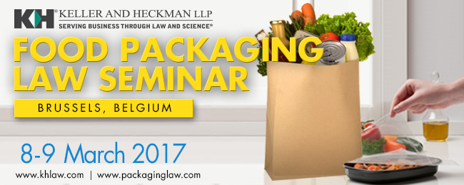 2017 Brussels Food Packaging Law Seminar