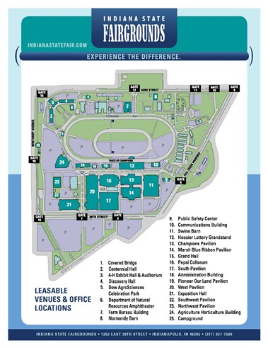 Indiana State Fairgounds Map