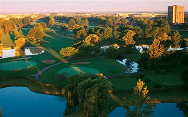 Ariel View of Golf Course