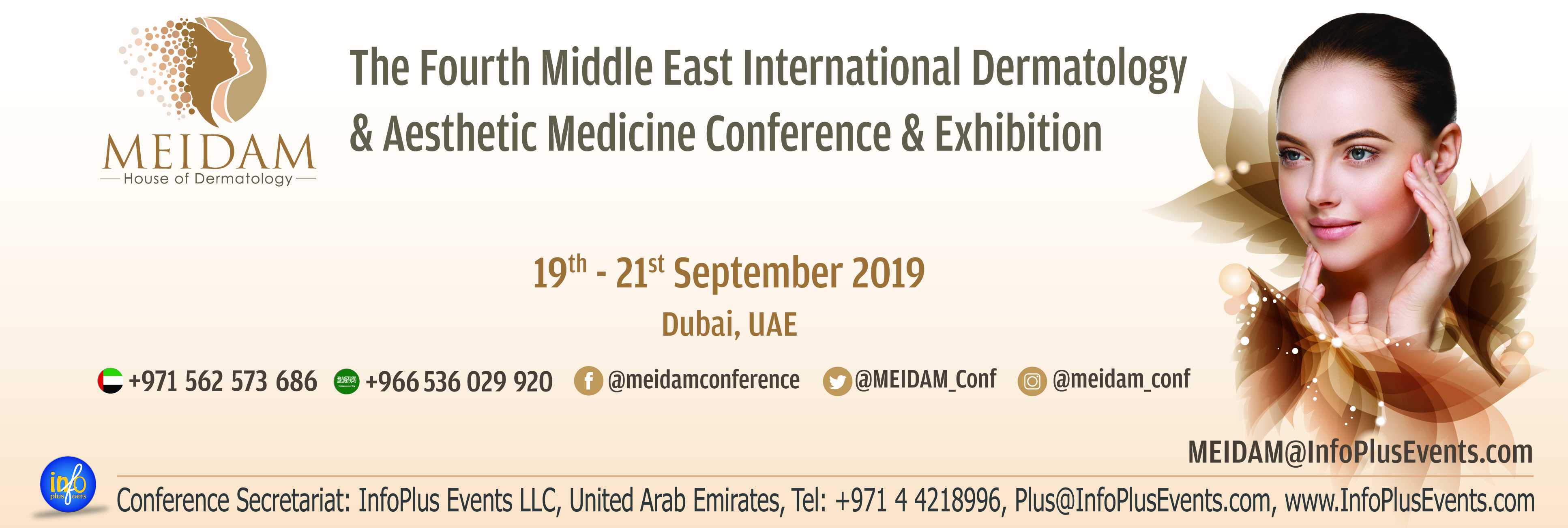 4th Middle East International Dermatology & Aesthetic Medicine Conference & Exhibition (MEIDAM) The House of Dermatology, 19th - 21st September, 2019