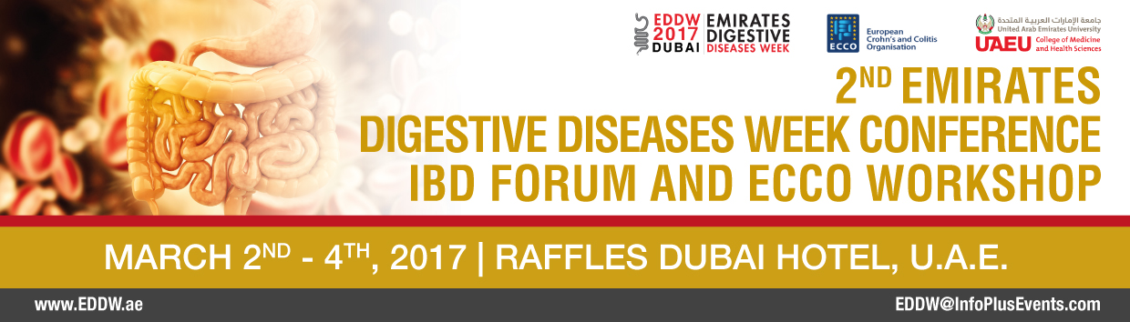 2nd Emirates Digestive Diseases Week, IBD Forum and European Crohn's and Colitis Organization Workshop, 2nd - 4th March, 2017