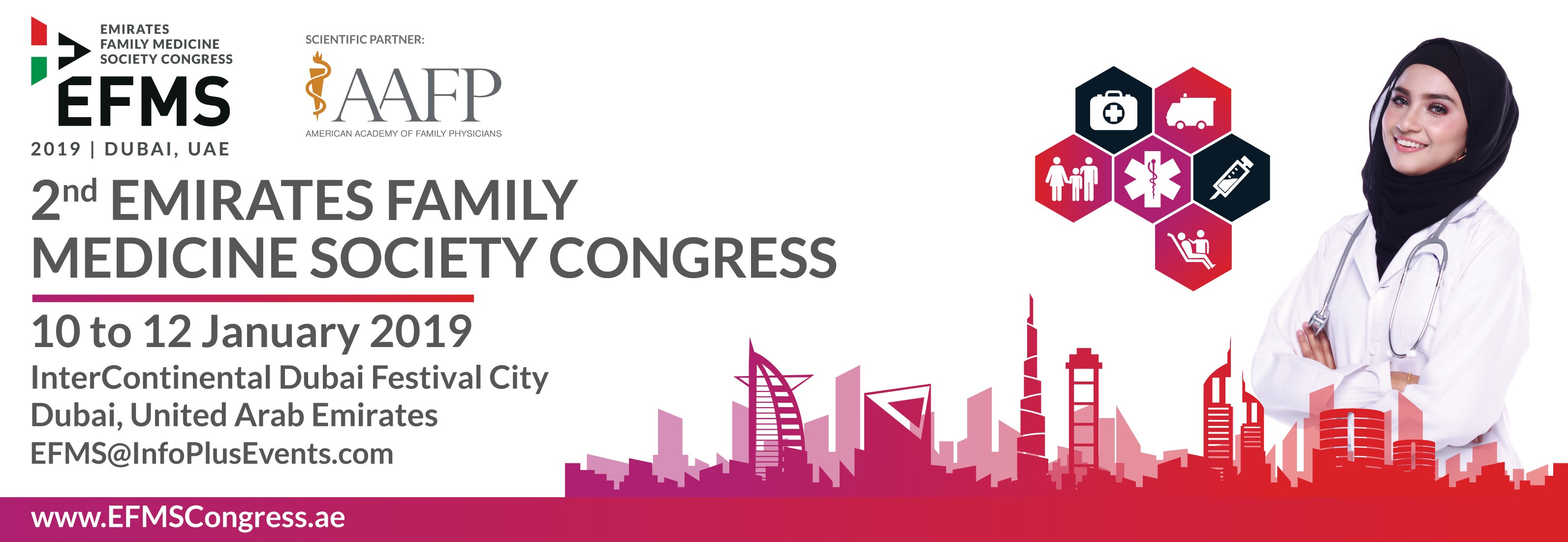 The 2nd Emirates Family Medicine Society Congress, 10th - 12th January, 2019