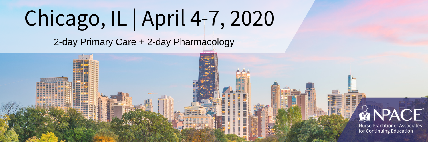 2-day Primary Care + 2-Day Pharmacology - Chicago 2020