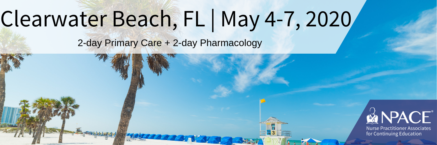 2-day Primary Care + 2-Day Pharmacology - Clearwater 2020