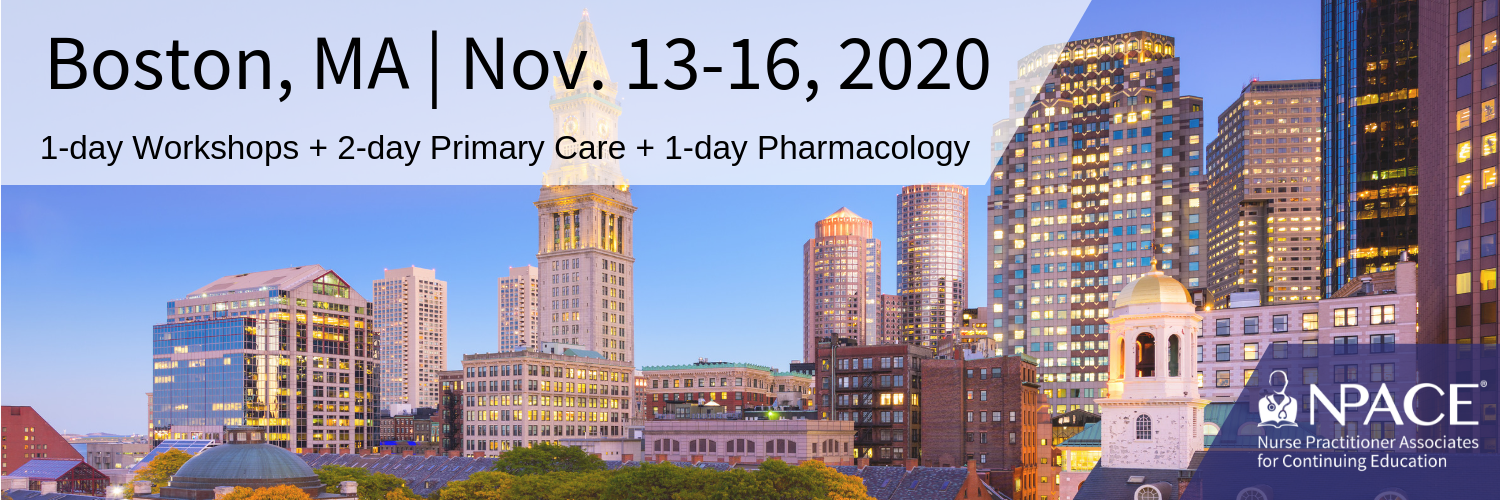 Workshops + Primary Care + Pharmacology - Boston 2020