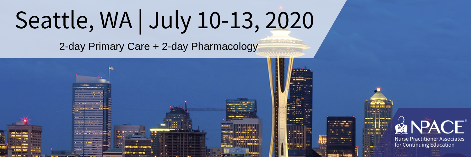 2-day Primary Care + 2-Day Pharmacology - Seattle 2020
