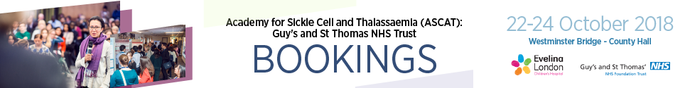 Annual Sickle Cell Disease and Thalassaemia Conference (ASCAT) 2018