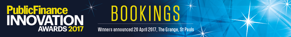 Public Finance Innovation Awards 2017 - Table Bookings