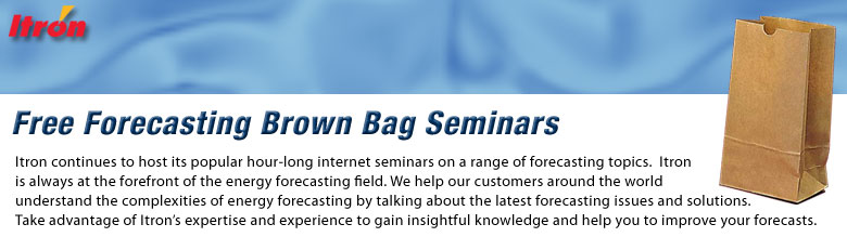 2019 Itron Forecasting Brown Bag Seminars
