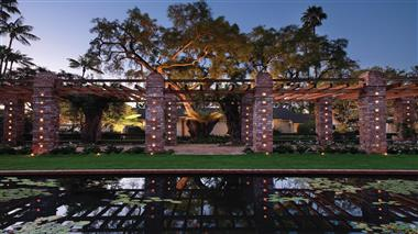 Belmond El Encanto Arbor and Lily Pond
