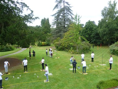 Team Building on Lawn