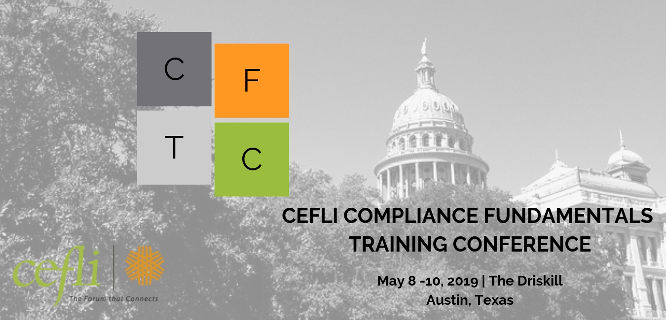 2019 CEFLI Compliance Fundamentals Training Conference