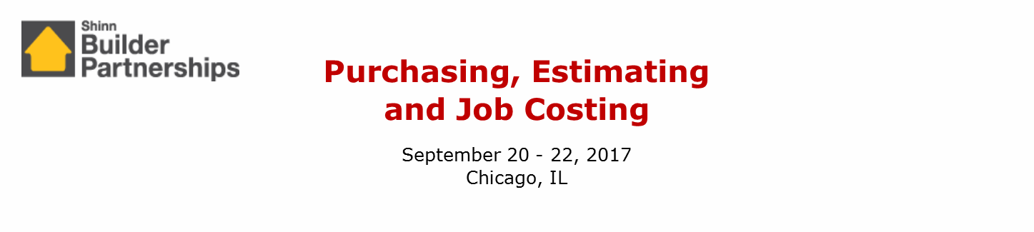 Purchasing, Estimating and Job Costing September 2017