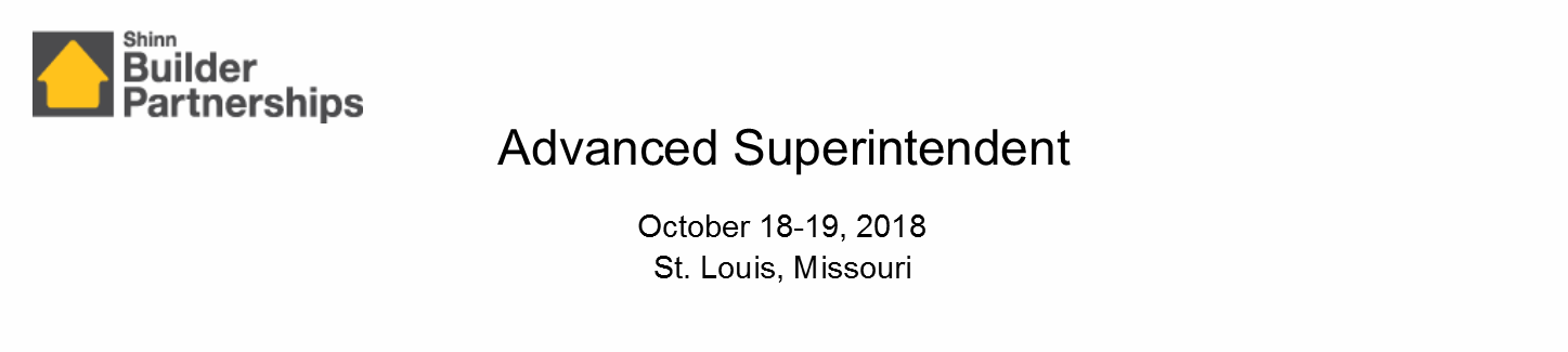 Advanced Superintendent October 2018