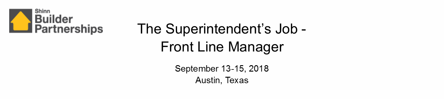The Superintendent's Job September 2018