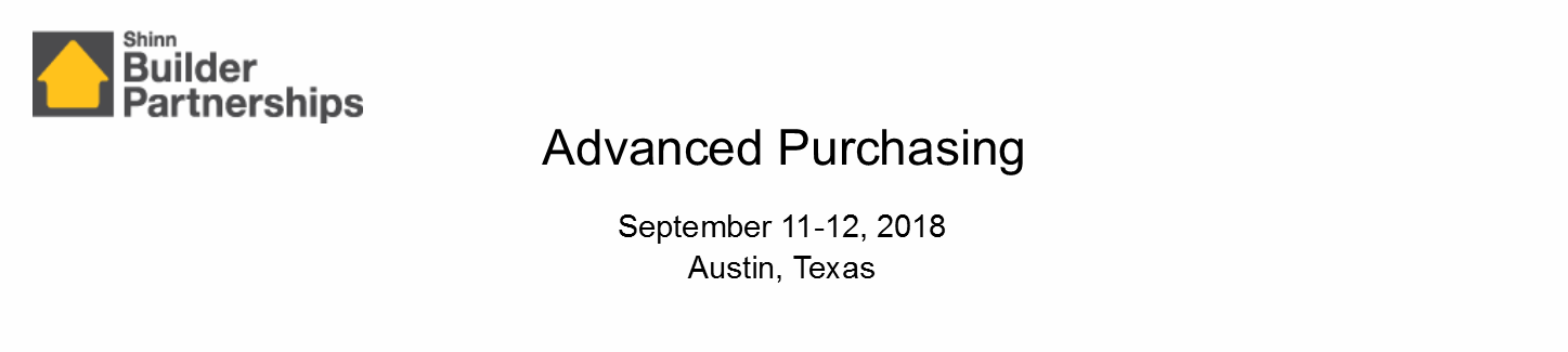 Advanced Purchasing September 2018