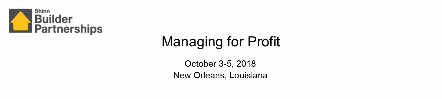 Managing for Profit October 2018