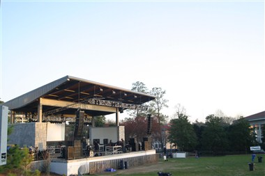 Stage at McDonough Field