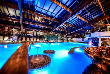 Indoor heated pool at Minerals Hotel
