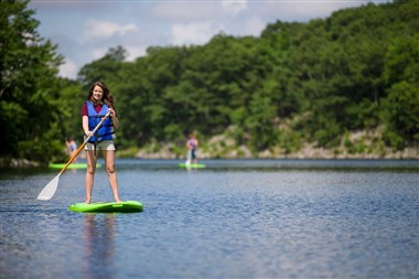 Paddle Boarding at the Mountain Top Lake