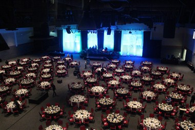 Exhibit Hall - Banquet Style with Stage