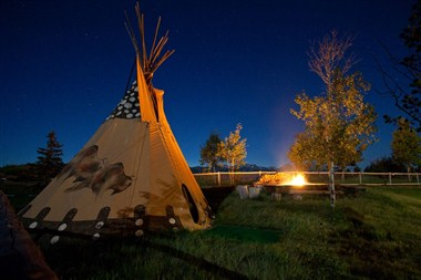 Signature tee Pee and Fire Pit