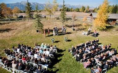 Ceremony on Lawn from Above