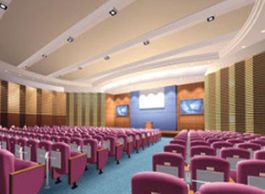 Four-story multi-media conference room