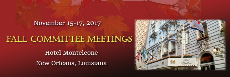 2017 Fall Committee Meetings