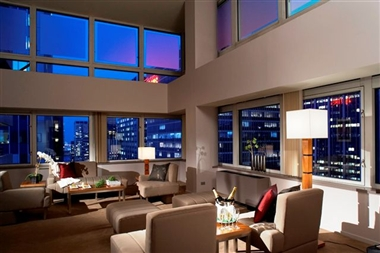 Penthouse Loft Living Room (Night)