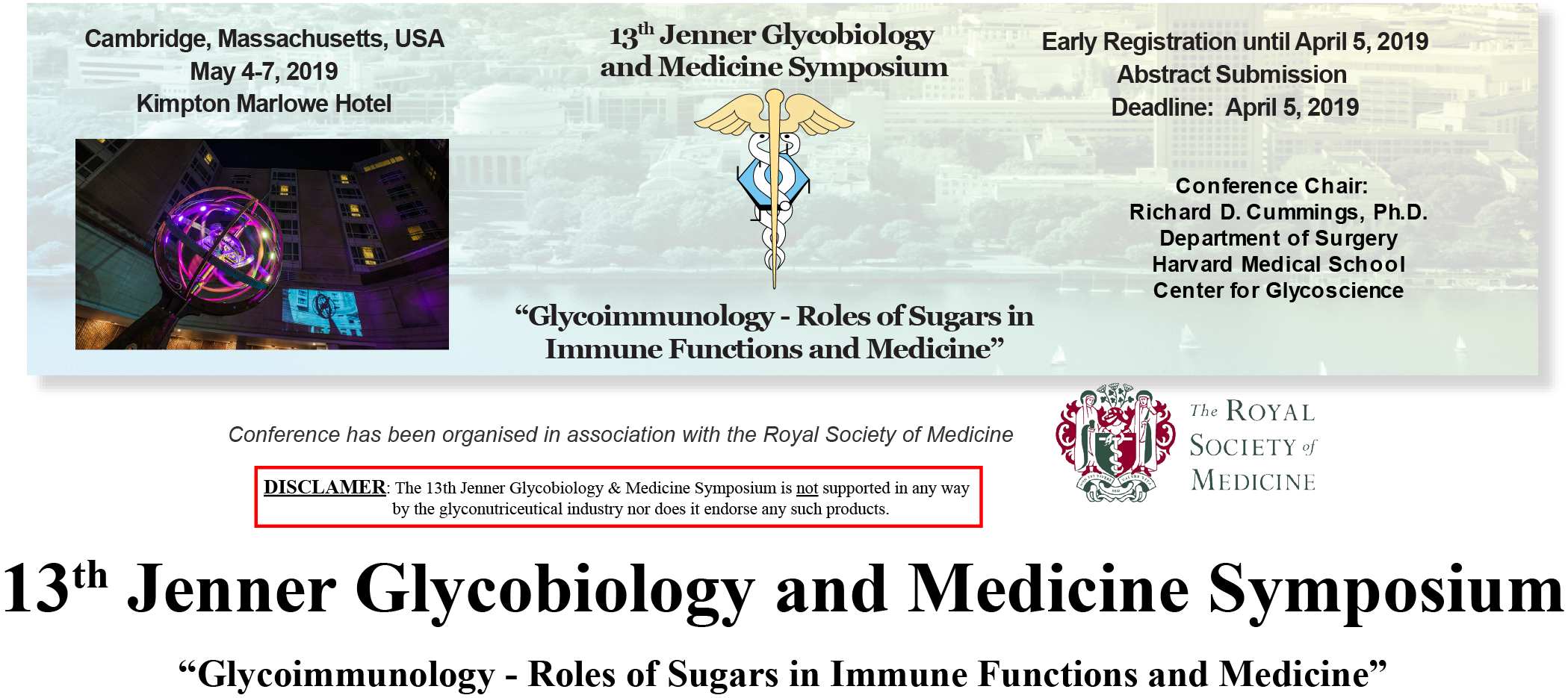 13th Jenner Glycobiology and Medicine Symposium