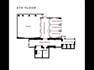 6th Floor Function Space- Floor Plan
