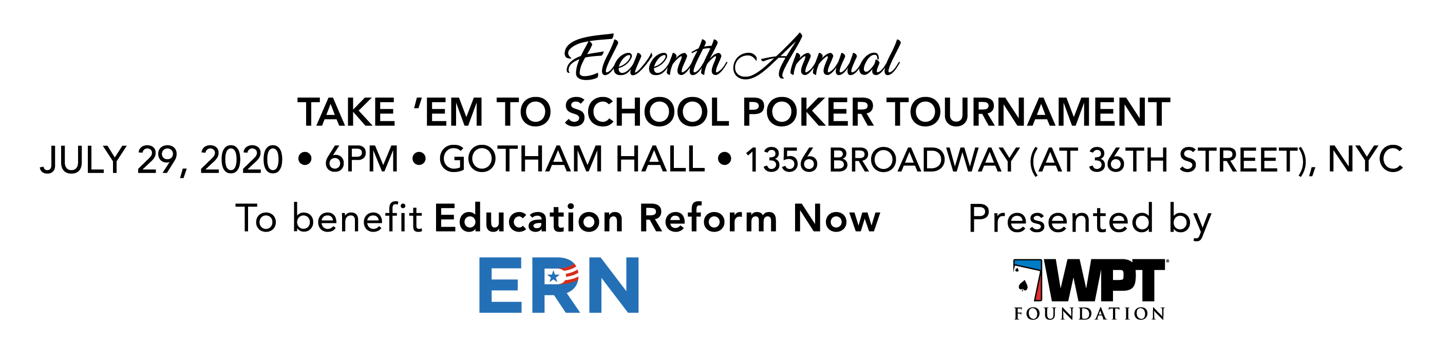 ERN Take 'Em to School Poker Tournament 2020