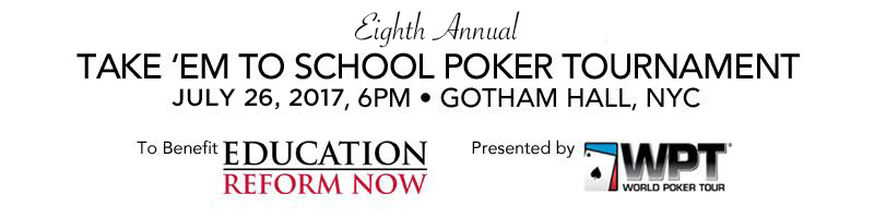 ERN Take 'Em to School Poker Tournament 2017