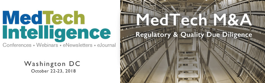 Med Tech M&A Regulatory & Quality Due Diligence