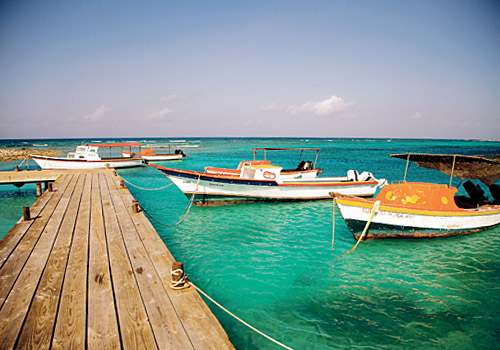 Boats at a Pier, Aruba 