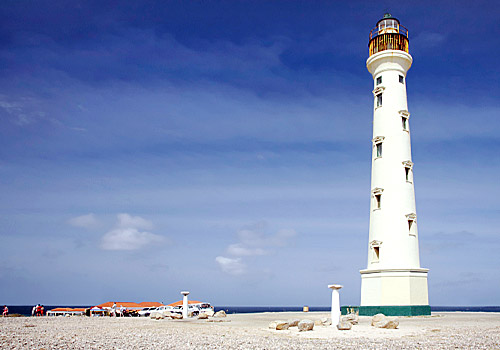 The California Lighthouse at Aruba&#39;s White Sand Du