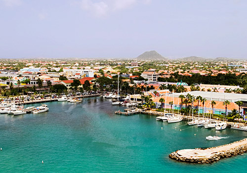 Harborfront in Aruba