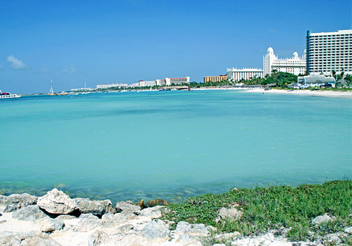 Skyline of Palm Beach, Aruba